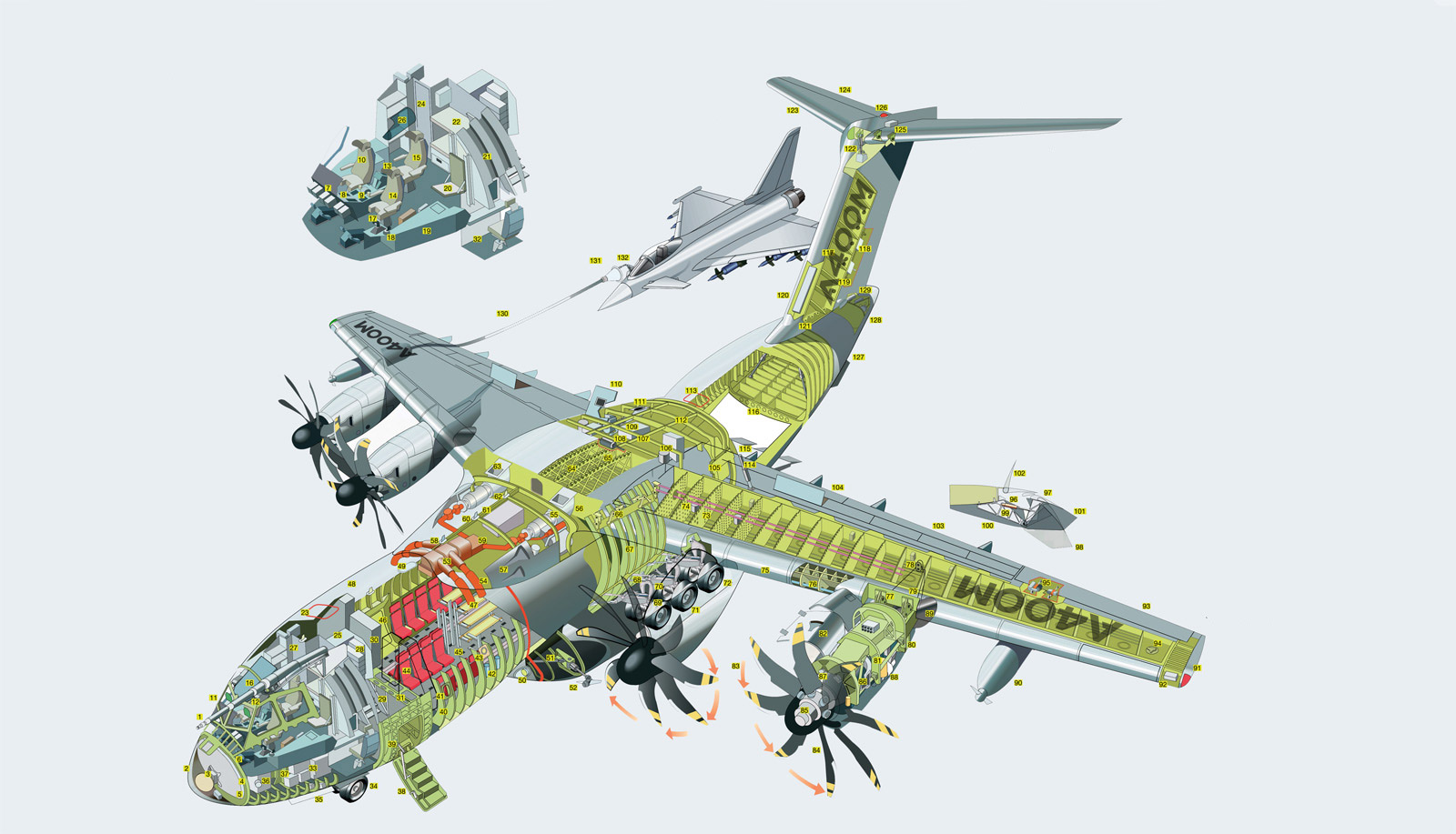Airbus A400M Atlas Cutaway Drawing