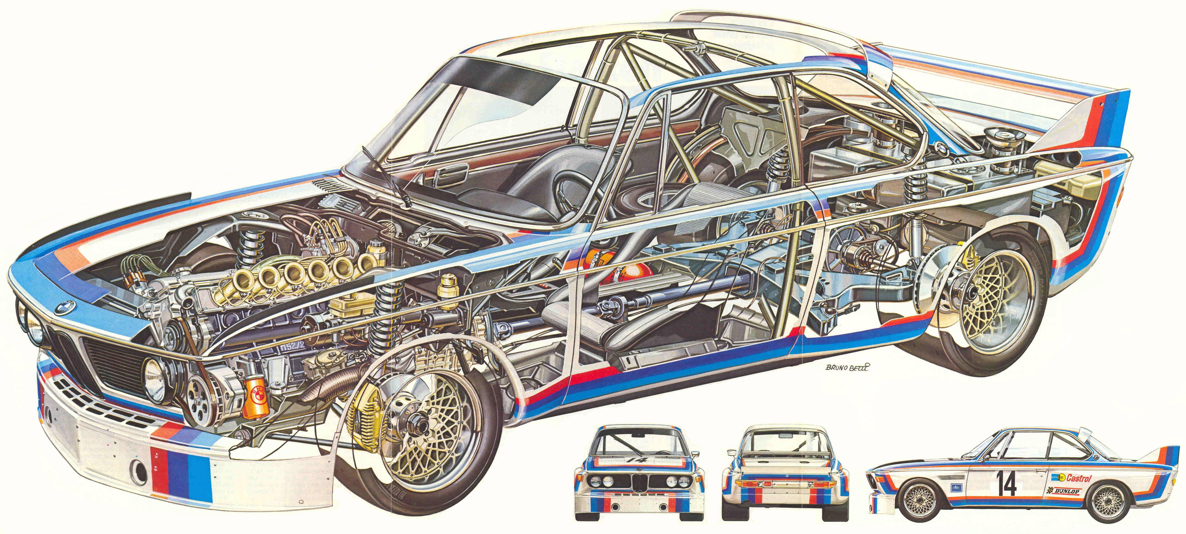 BMW 3.5 CSL cutaway
