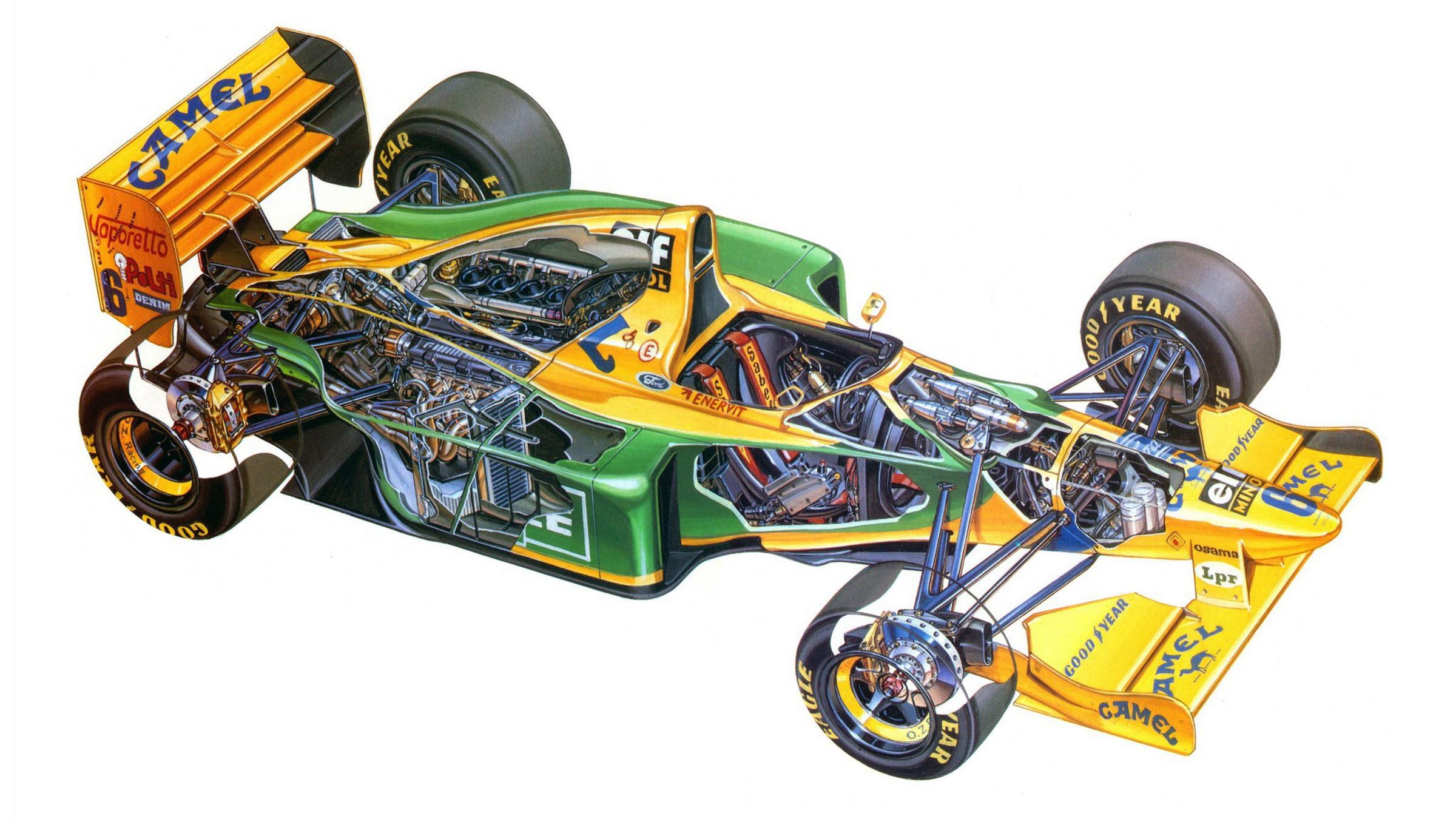Benetton B193 cutaway