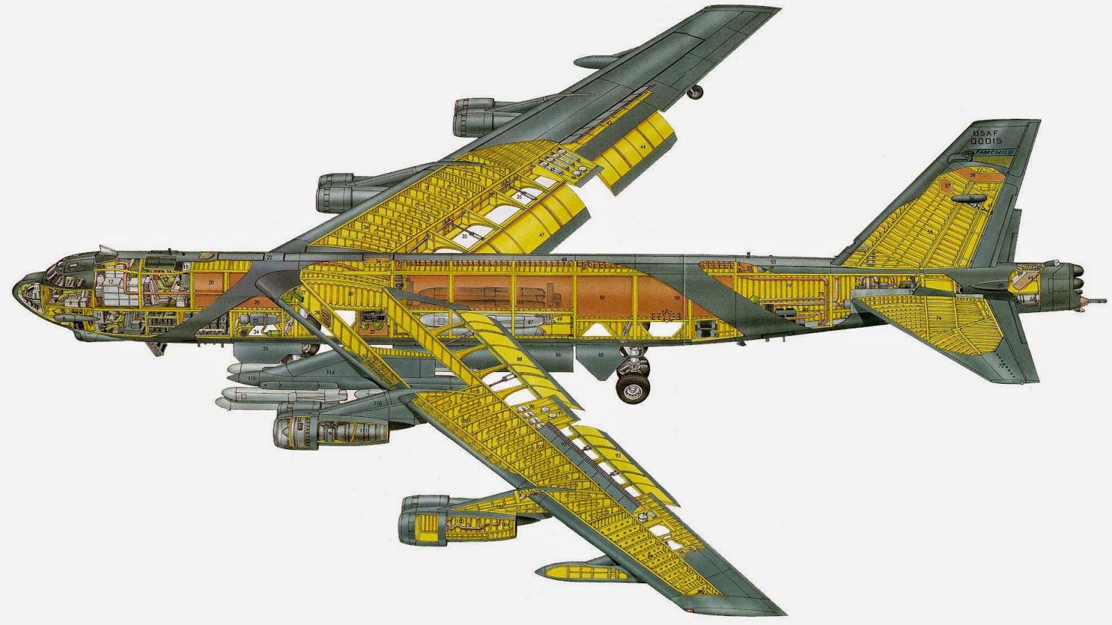 Boeing B-52 Stratofortress cutaway