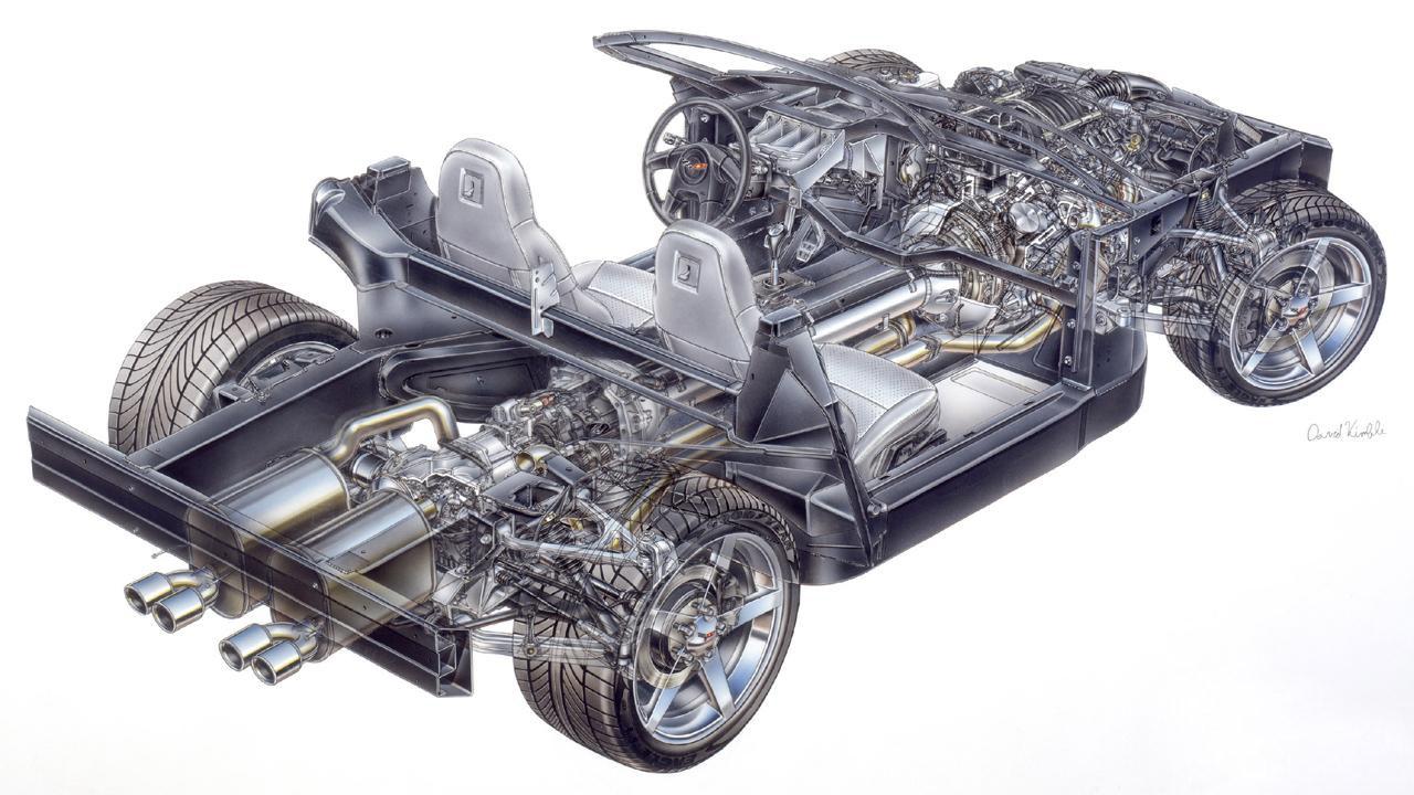 Chevrolet Corvette cutaway