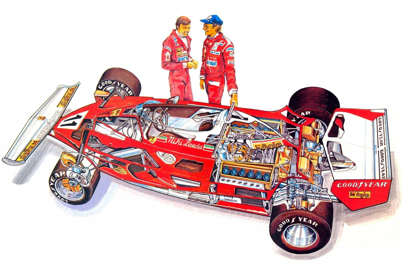 Ferrari 312T cutaway