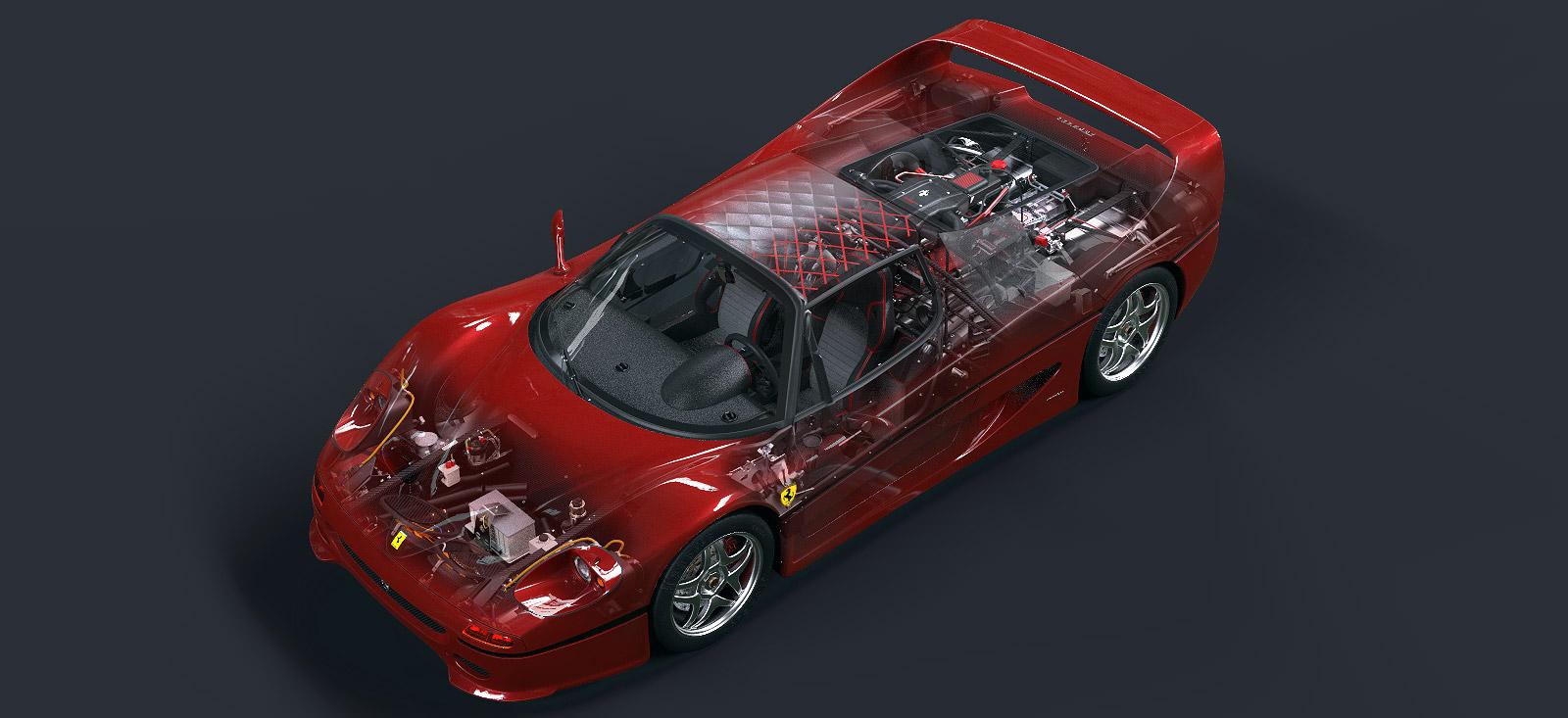 Ferrari F50 cutaway