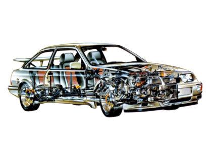 Ford Sierra RS Cosworth cutaway