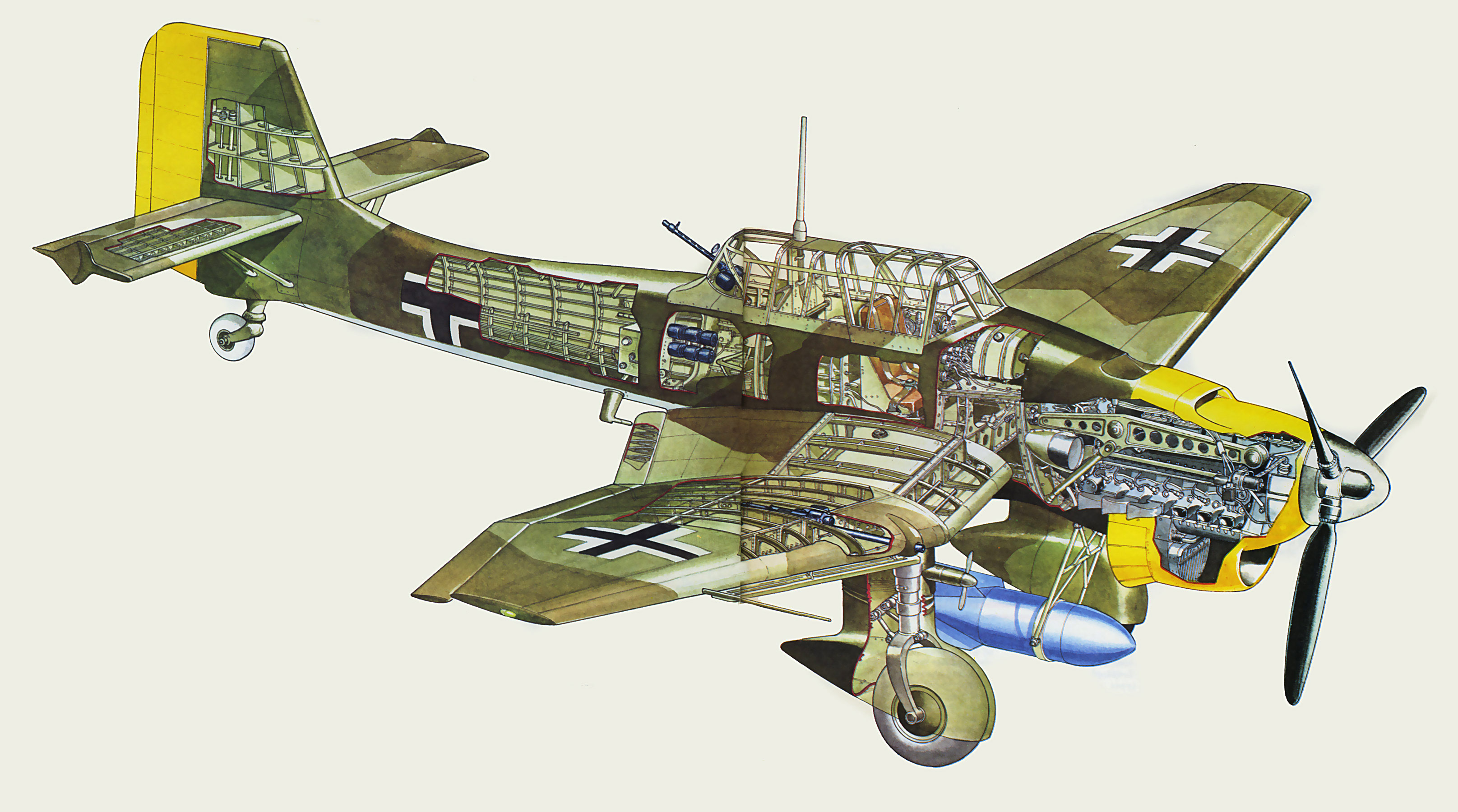 junkers ju 87 stuka cutaway drawing in high quality 2005 mustang engine diagram 2007 mustang engine diagram