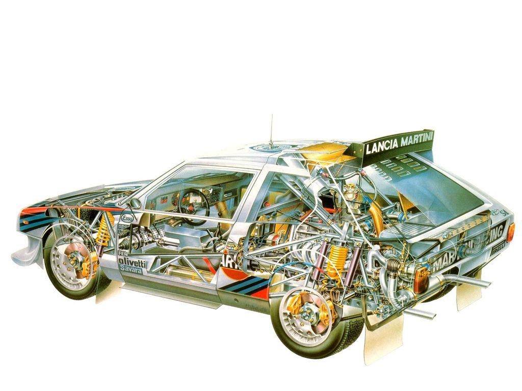 Lancia Delta S4 cutaway