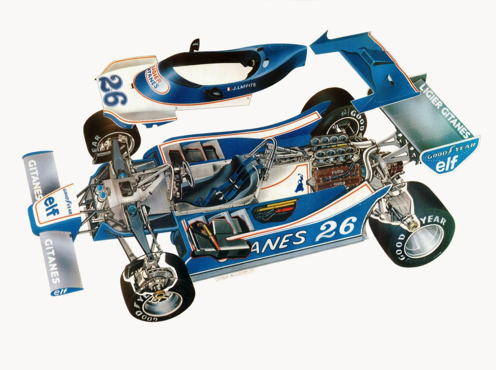 Ligier JS11 cutaway