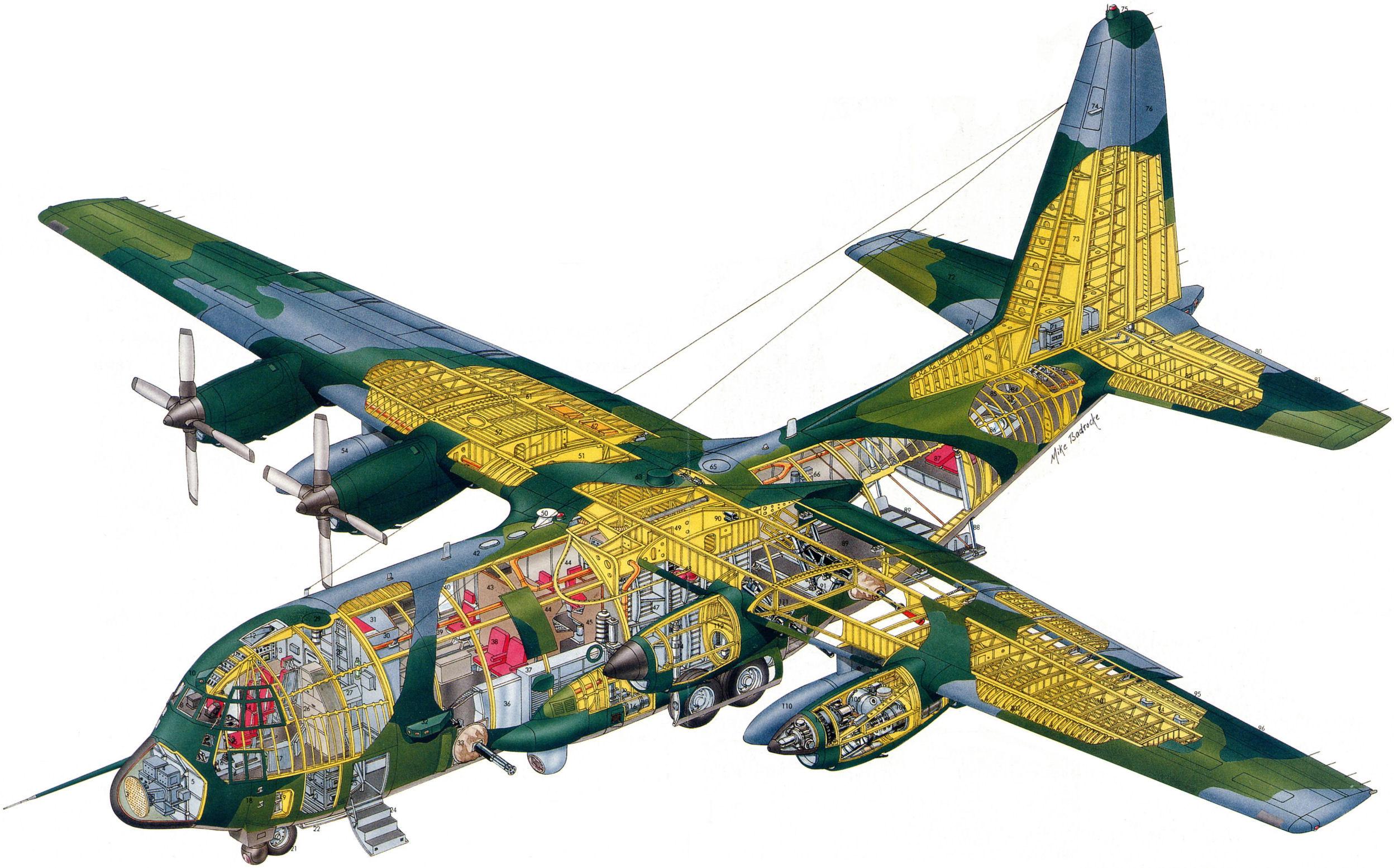 Lockheed C-130 Hercules cutaway