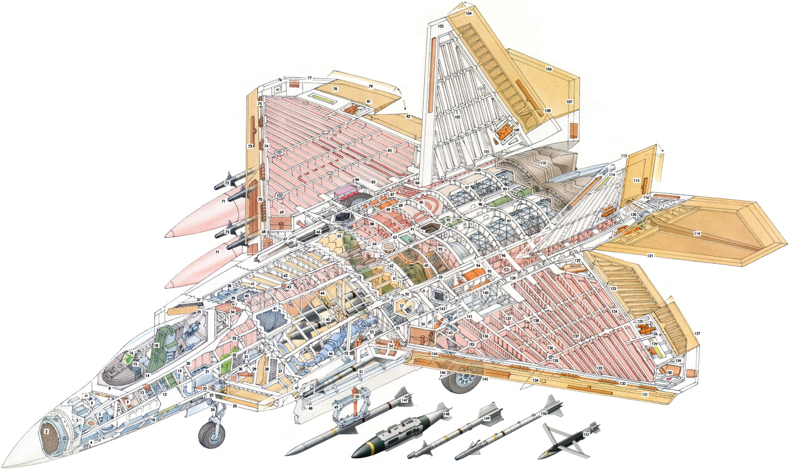 Lockheed Martin F-22 Raptor cutaway