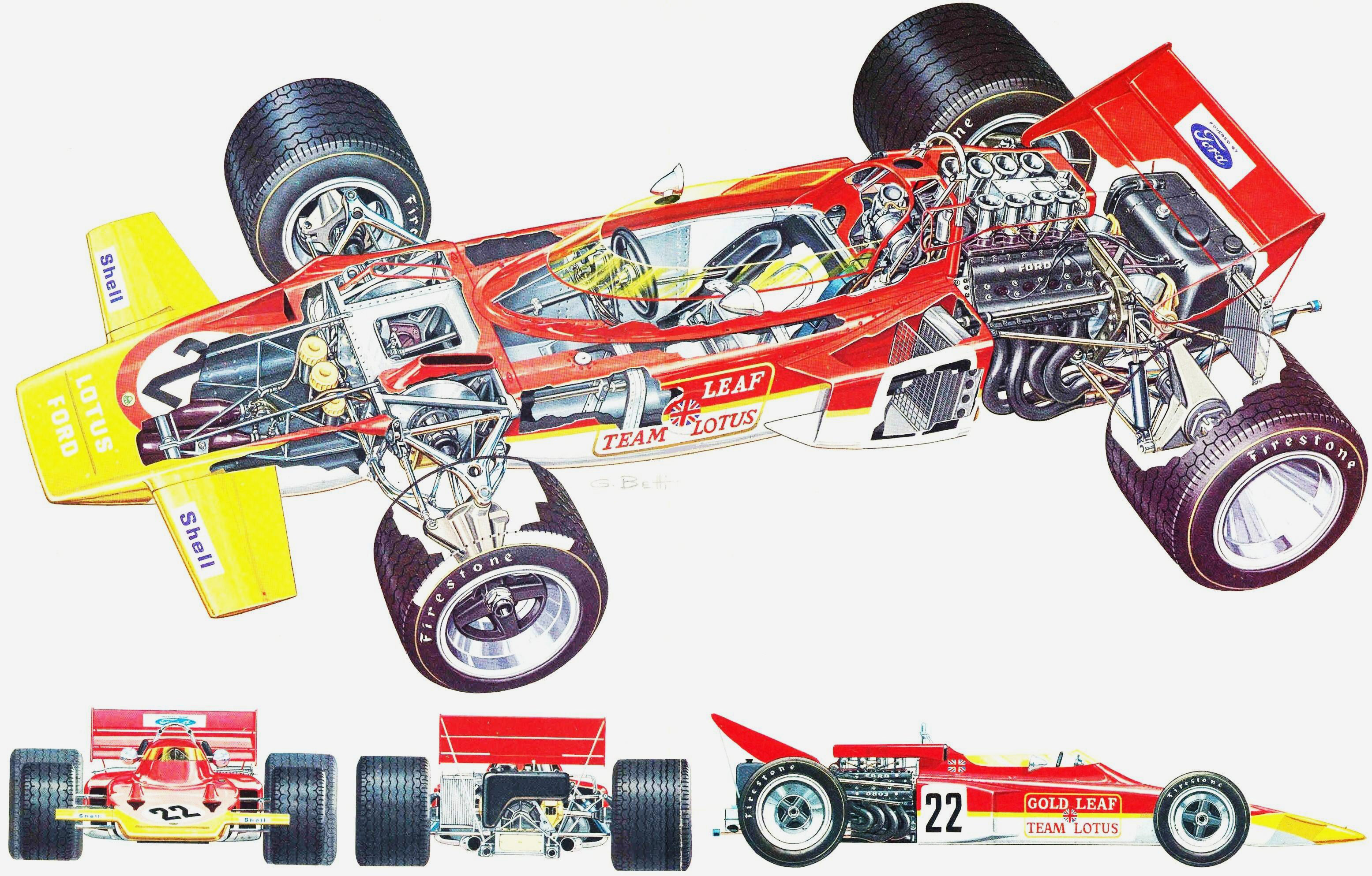 Lotus 72 cutaway