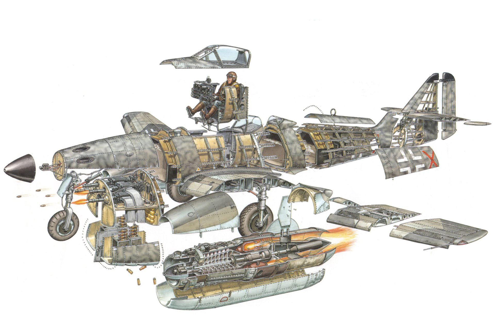 Me 262 cutaway