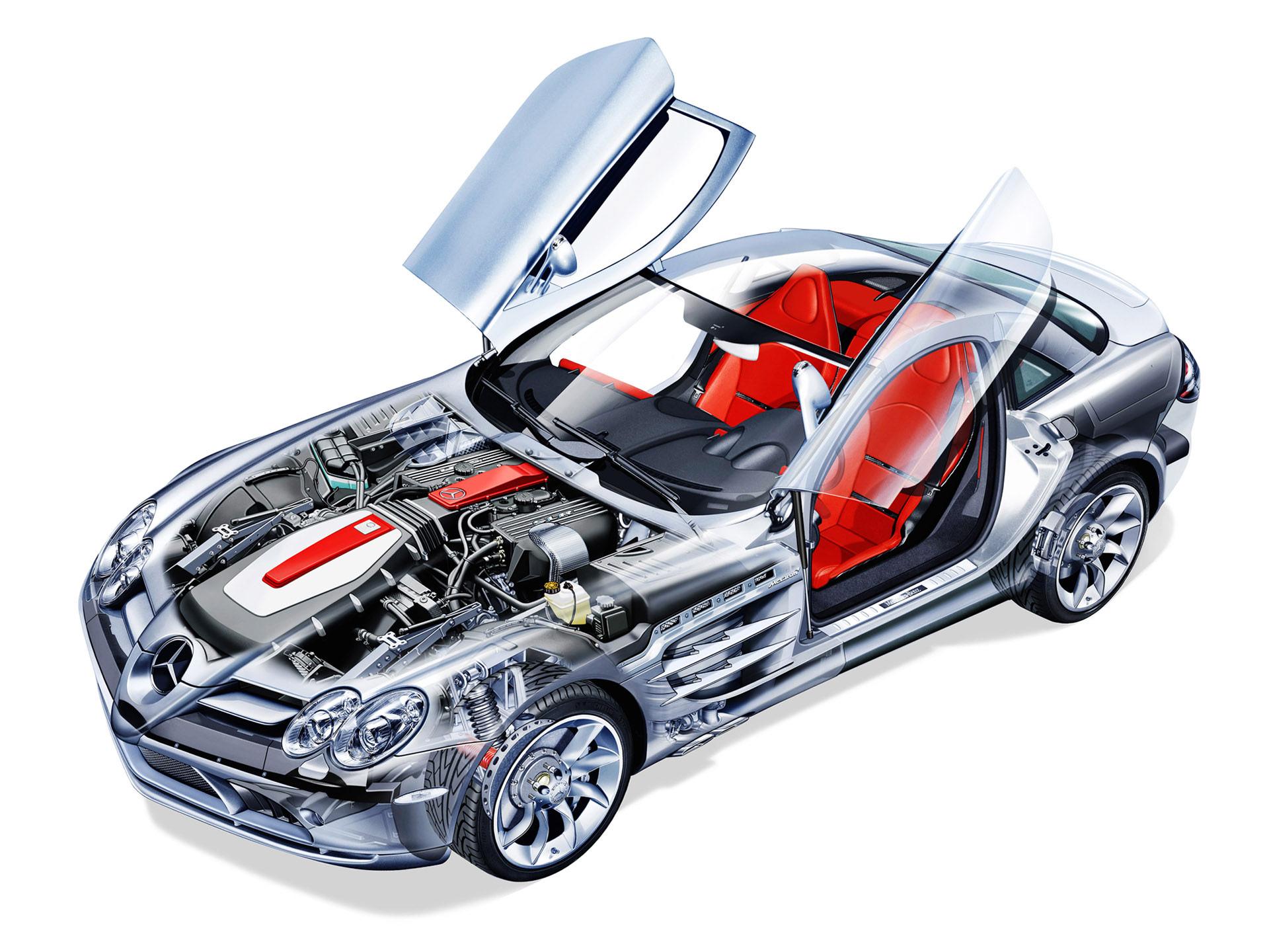 Mercedes-Benz SLR McLaren cutaway