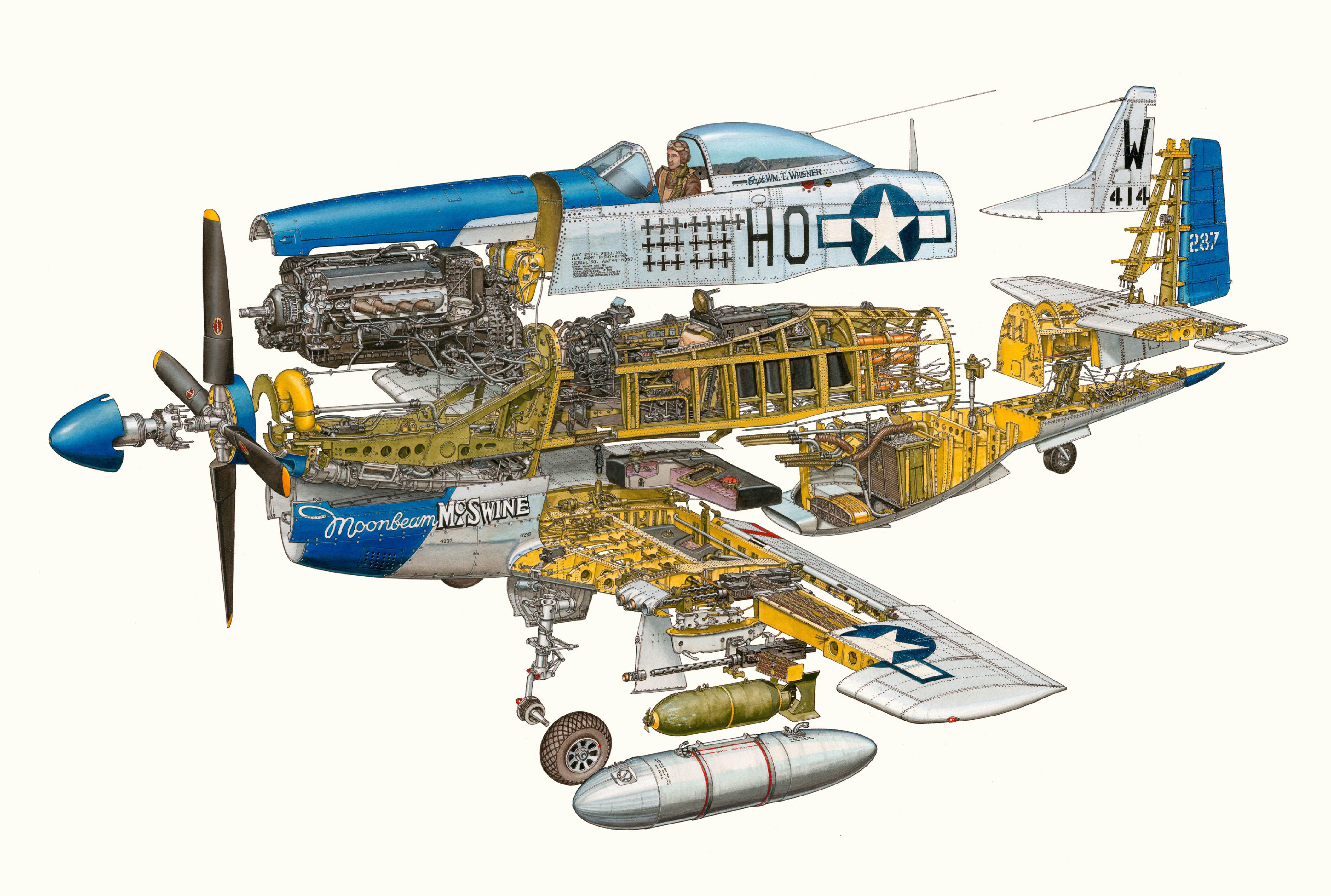 P-51 Mustang cutaway