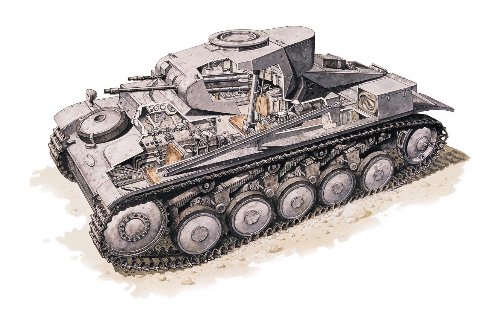 Panzer II cutaway