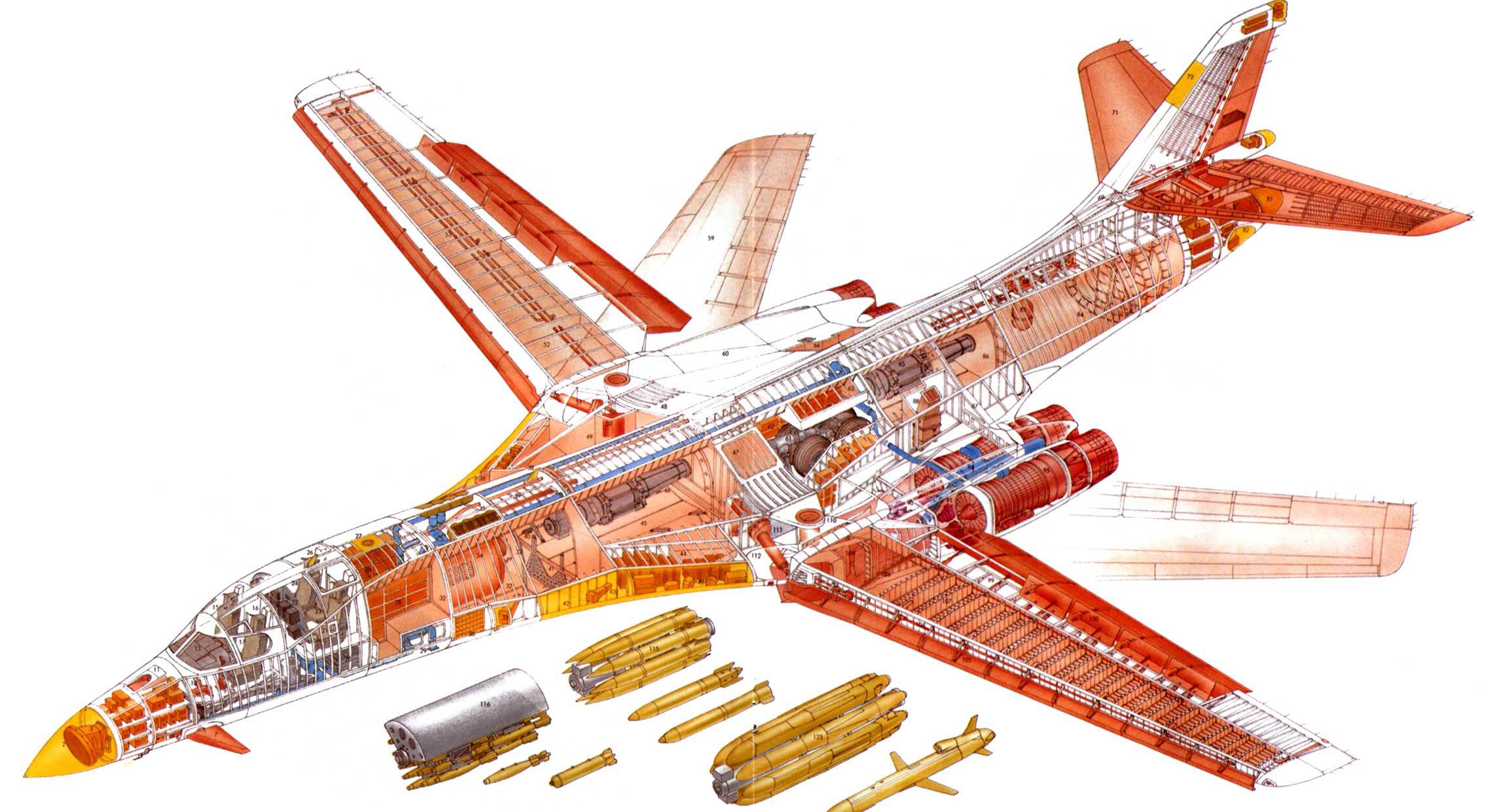 Rockwell B-1 Lancer cutaway