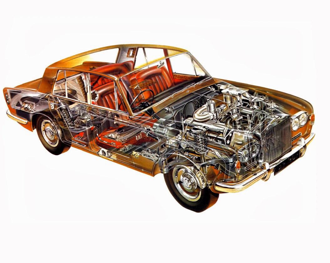 Rolls-Royce Silver Shadow cutaway