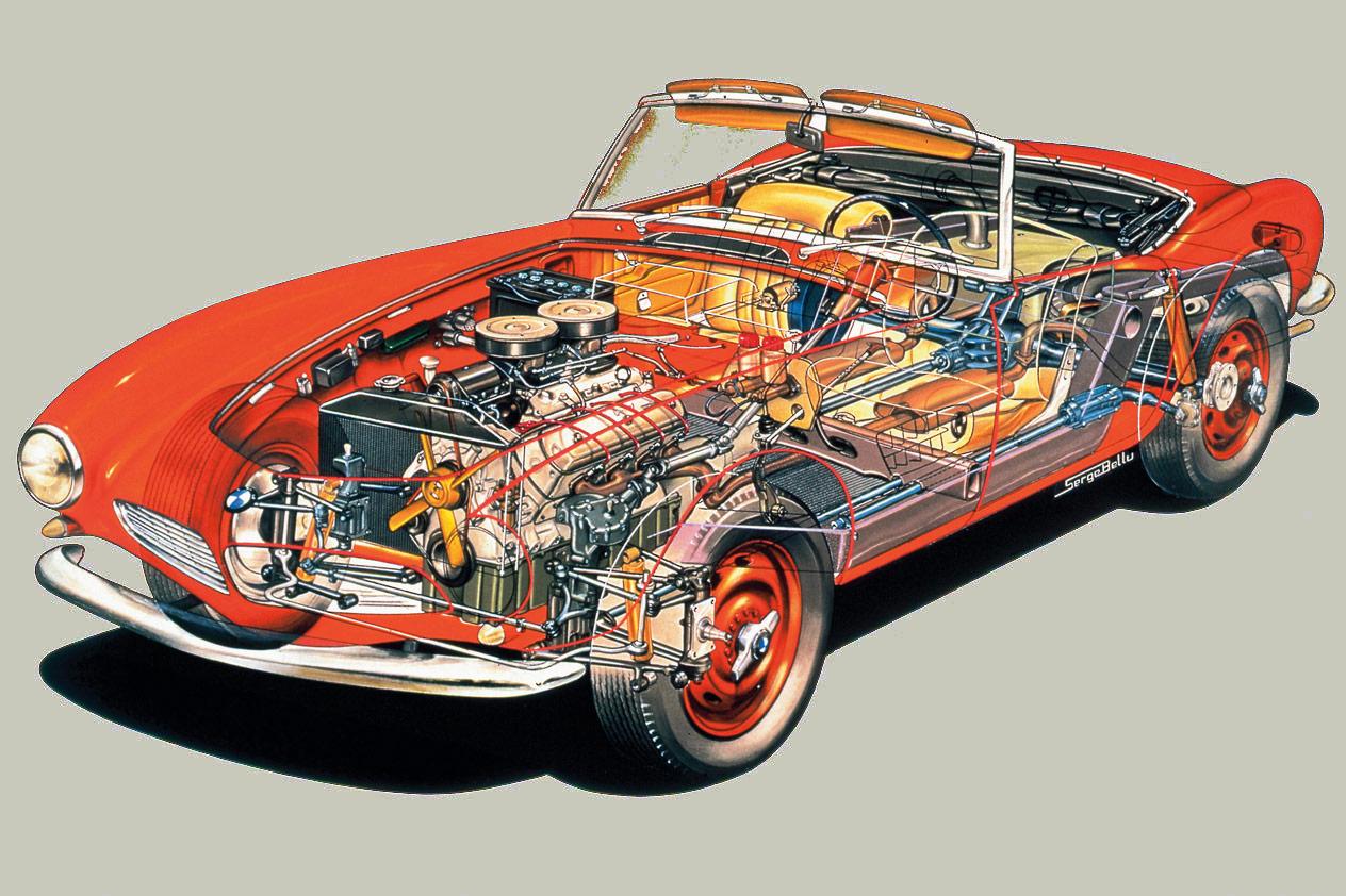 BMW 507 cutaway