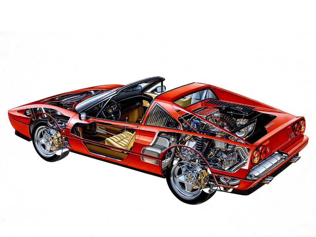 Ferrari 328 GTS cutaway