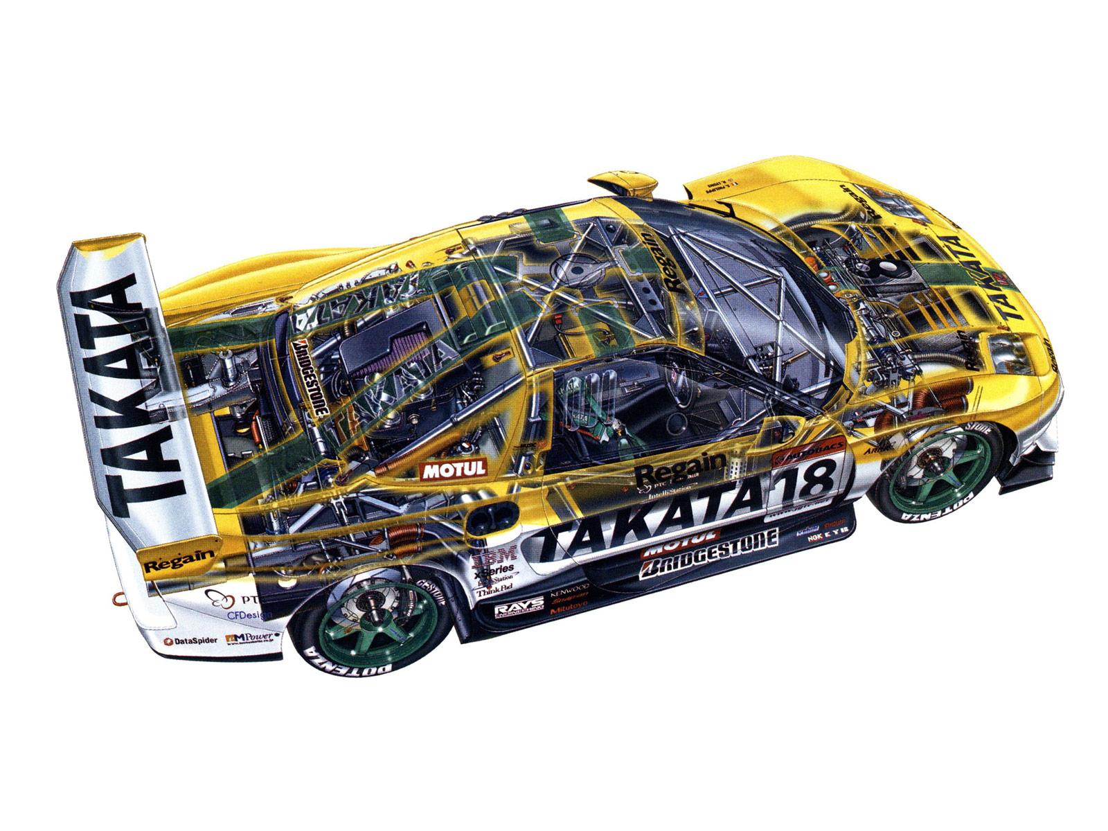 Honda NSX GT500 cutaway