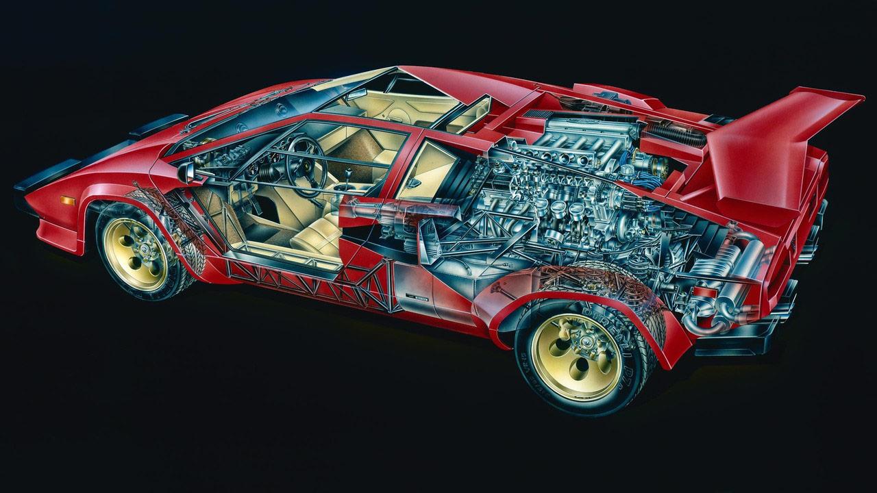 Lamborghini Countach cutaway