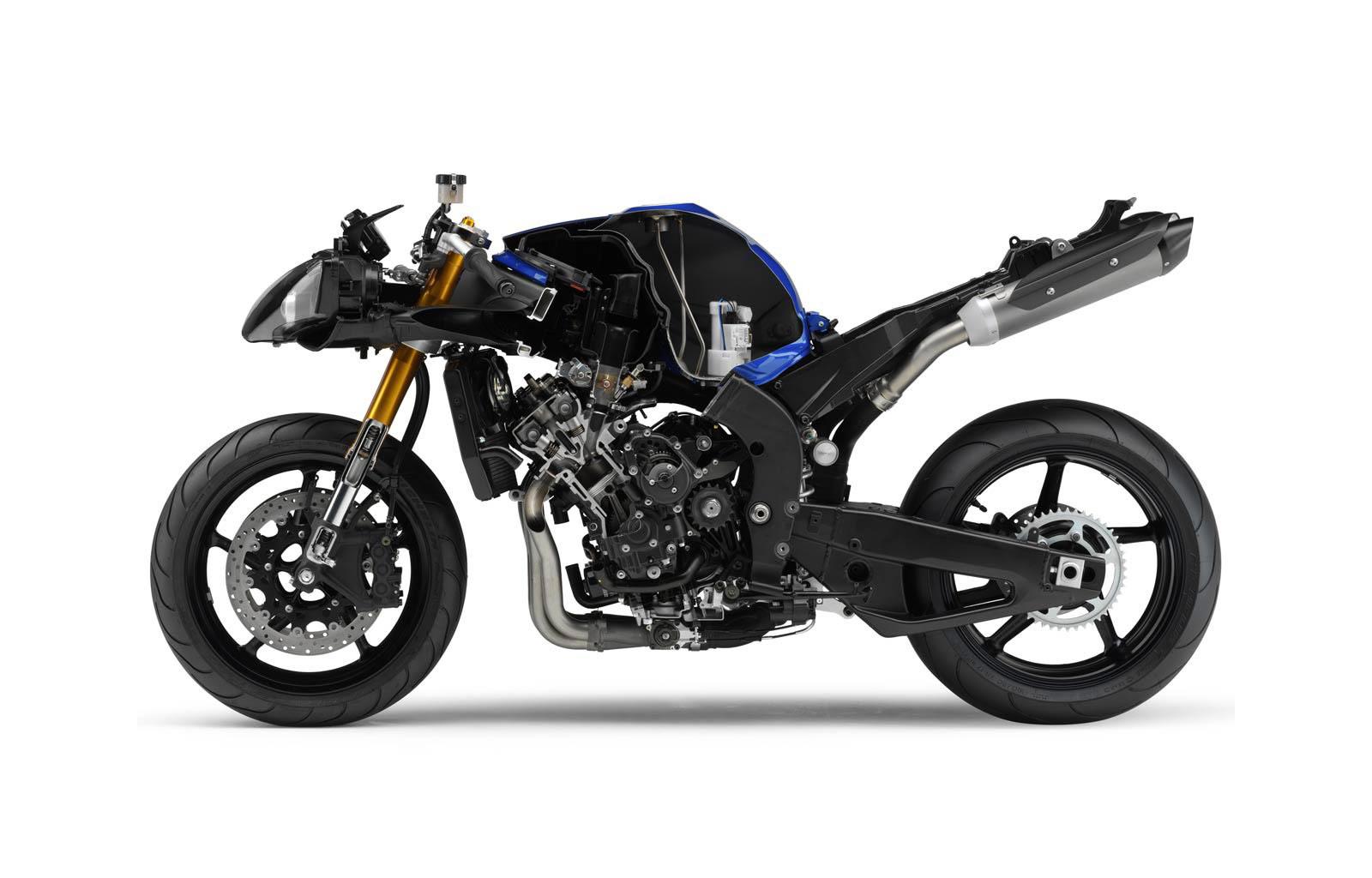 Yamaha YZF-R1 cutaway