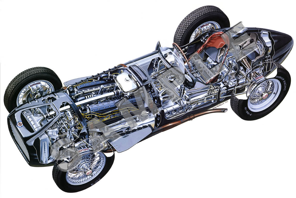 British Racing Motors V16 cutaway