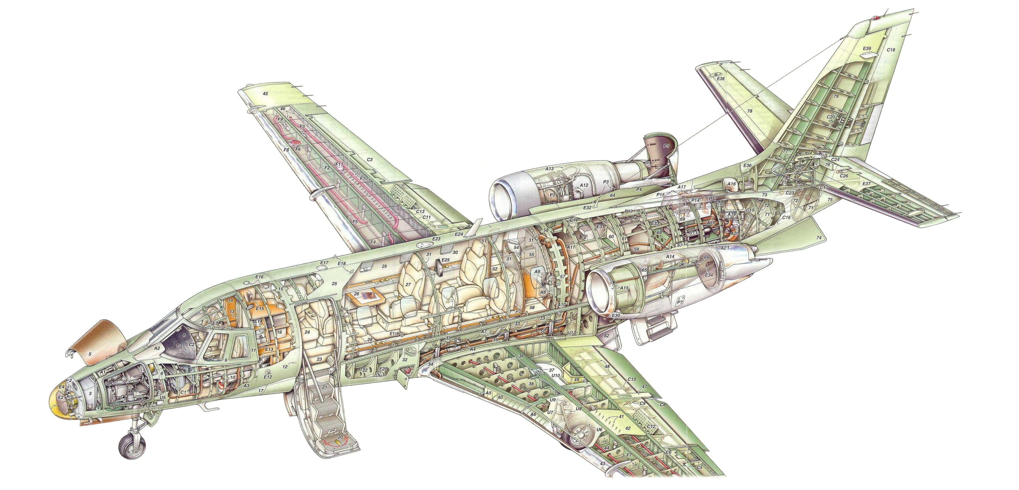 Cessna Citation Excel cutaway