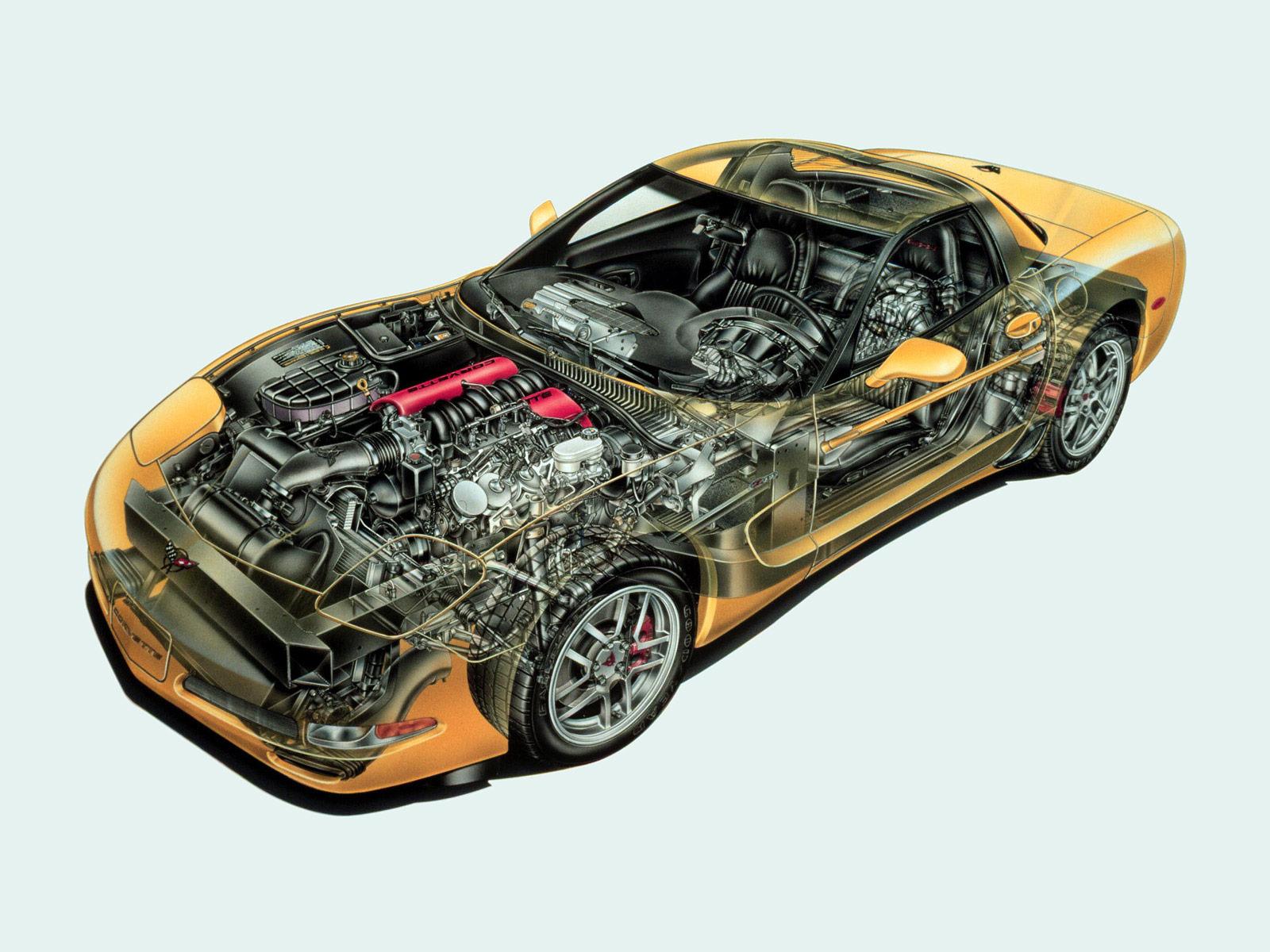 Chevrolet Corvette C5 cutaway