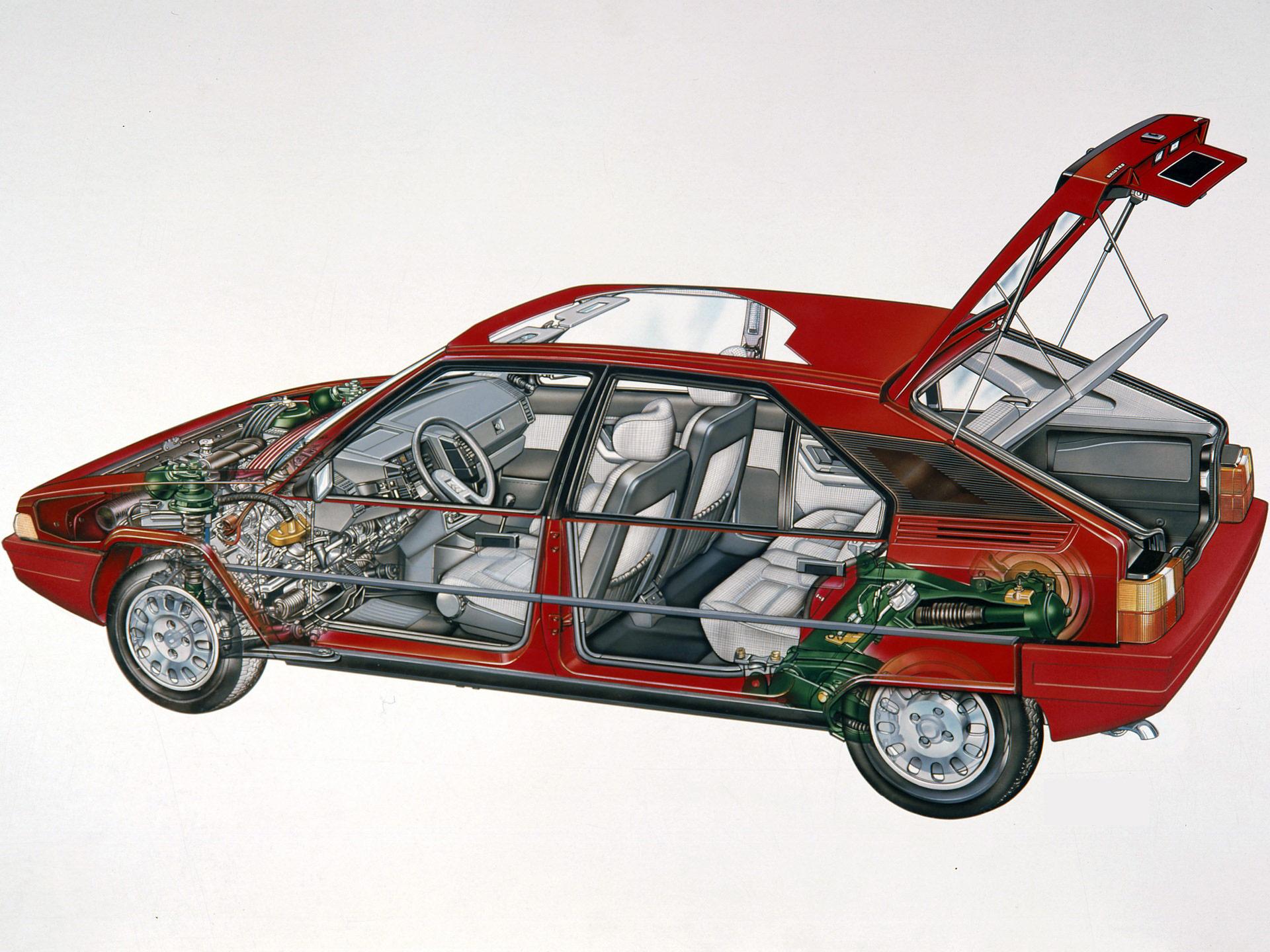 Citroen BX cutaway