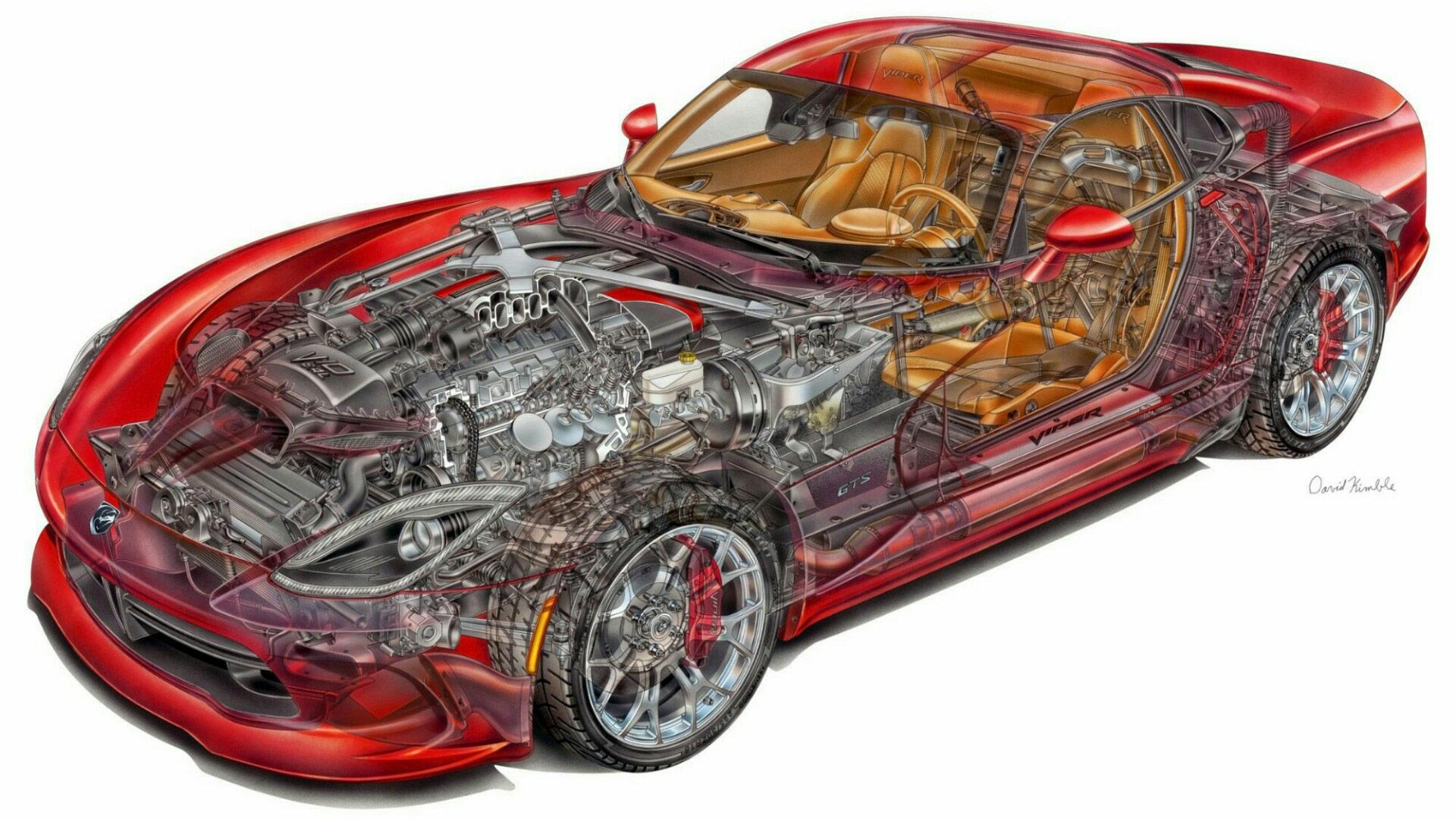 Dodge Viper SRT cutaway