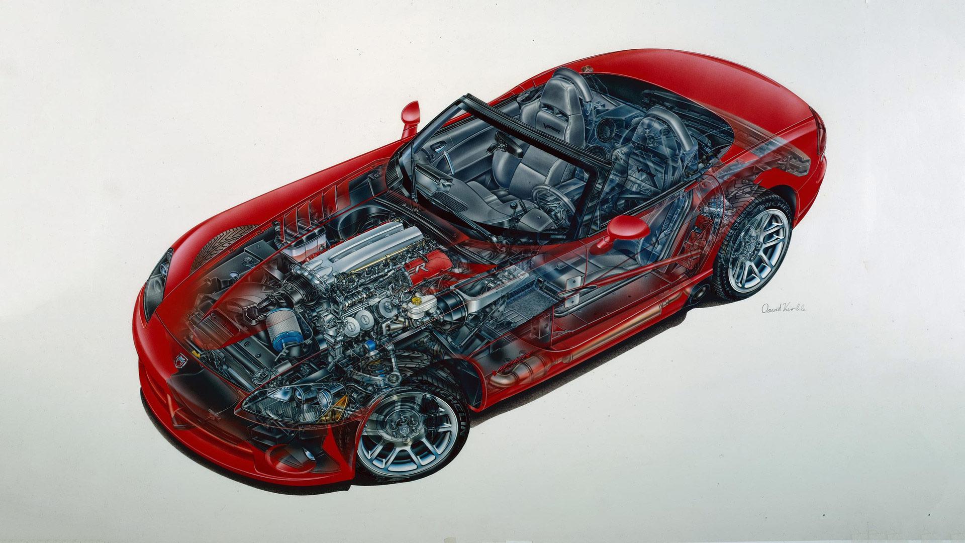 Dodge Viper SRT10 cutaway