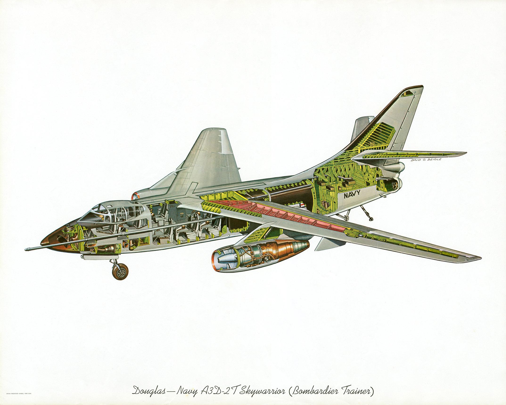 Douglas A-3 Skywarrior cutaway