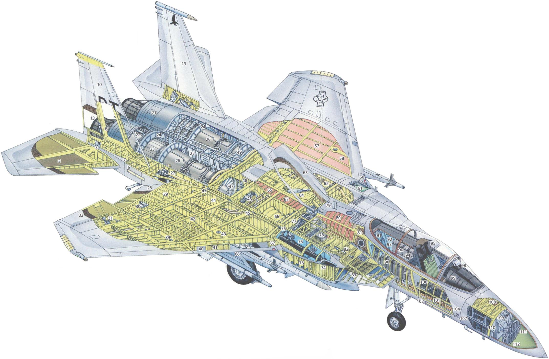 F-15 Eagle cutaway