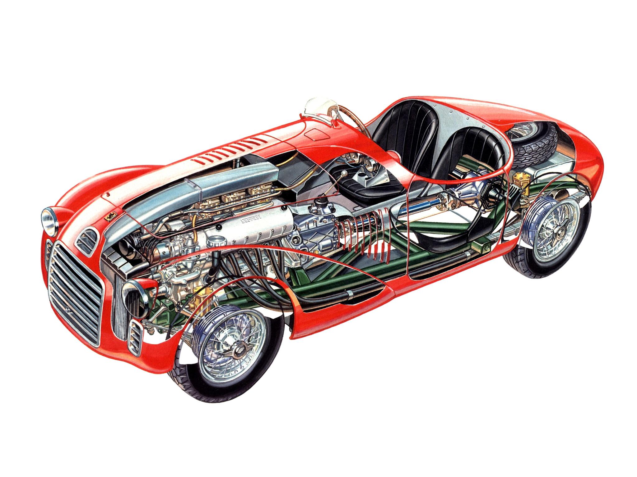 Ferrari 125 S cutaway