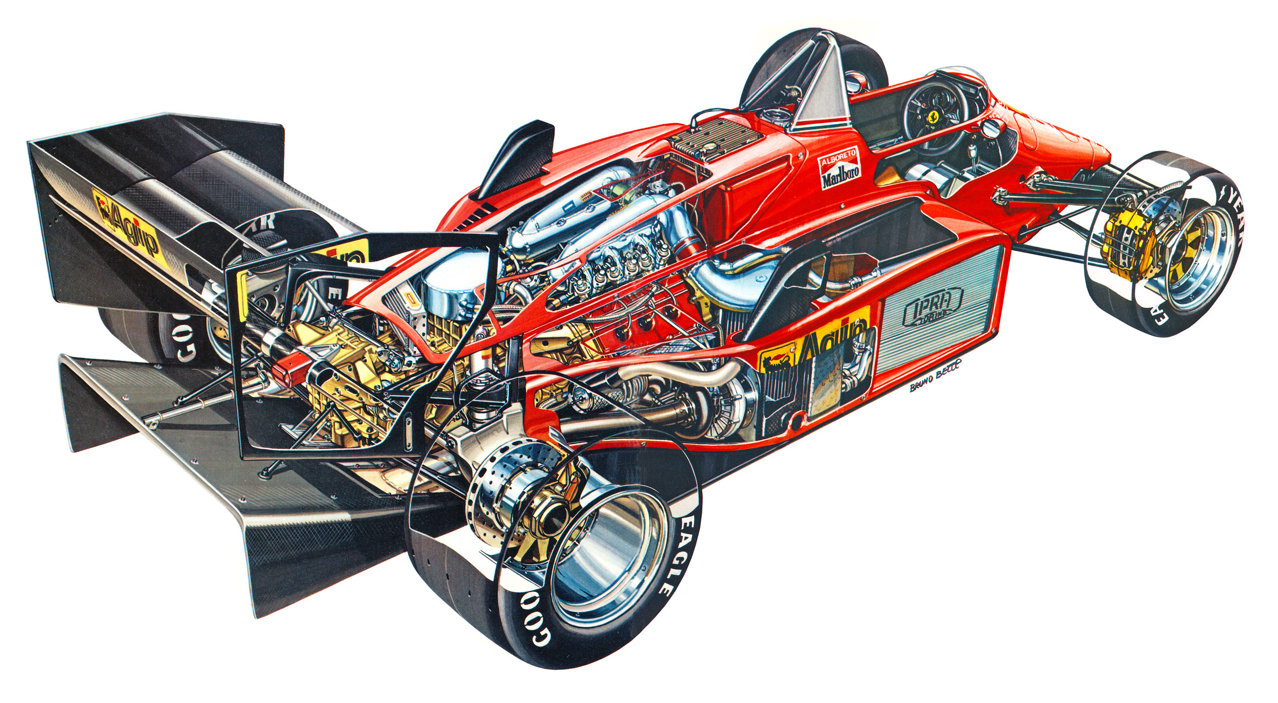 Ferrari 156/85 cutaway