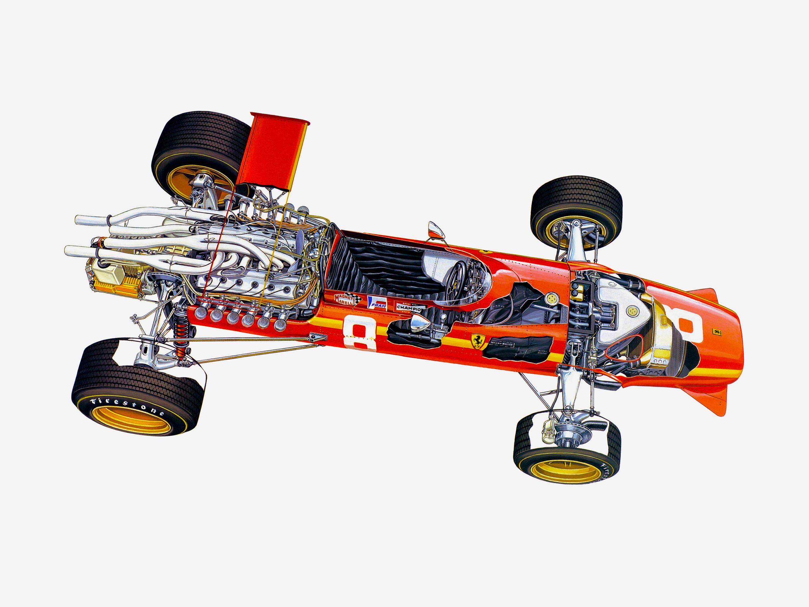 Ferrari 312 cutaway
