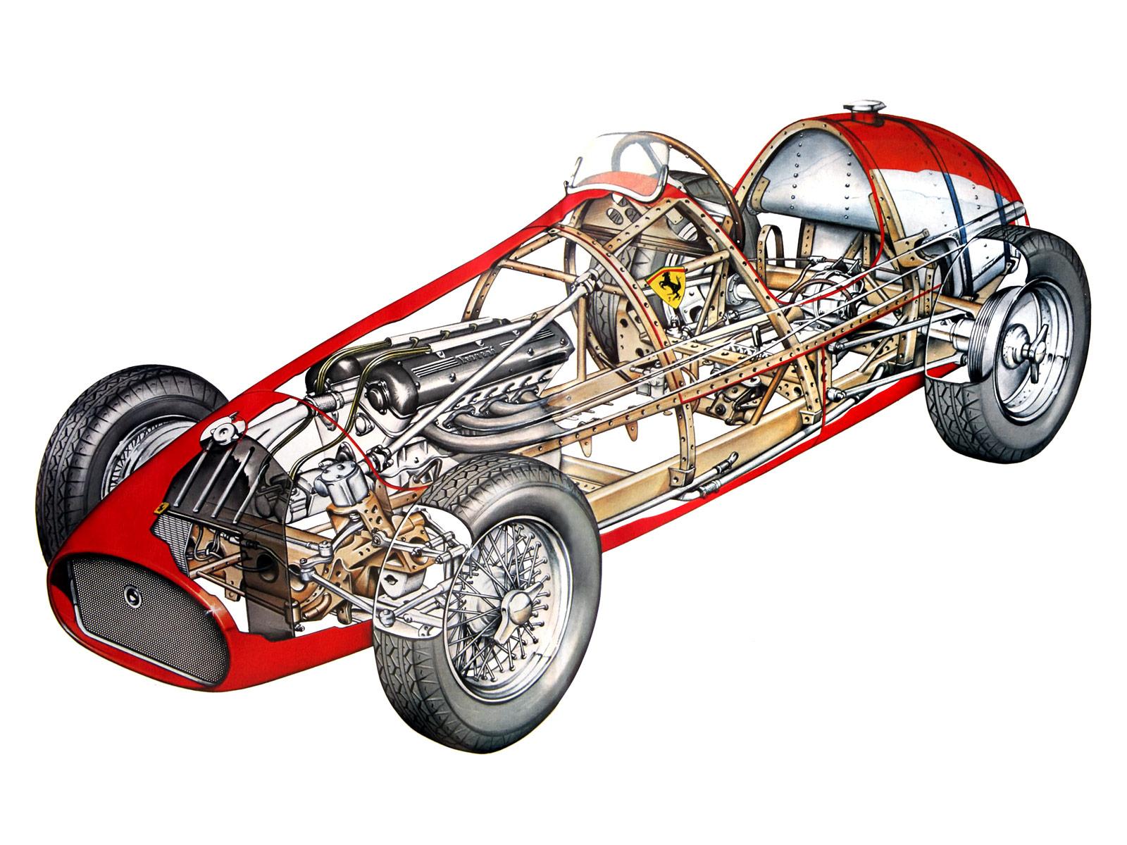 Ferrari 500 cutaway