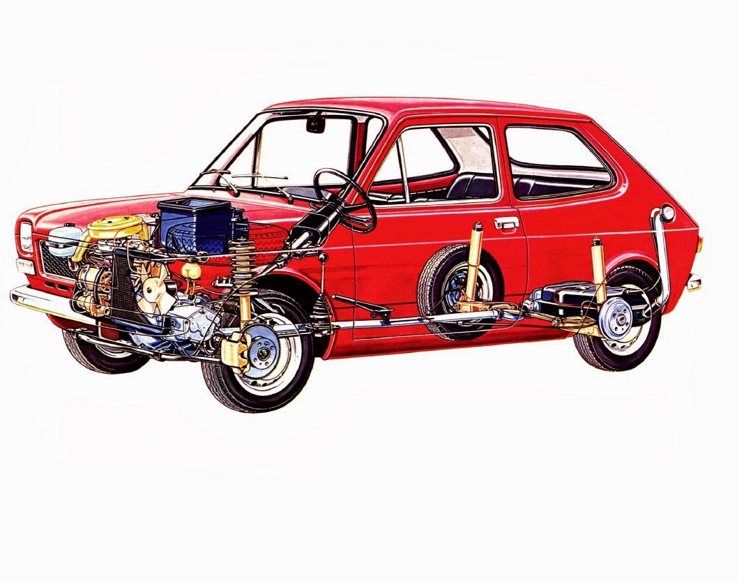 Fiat 127 cutaway