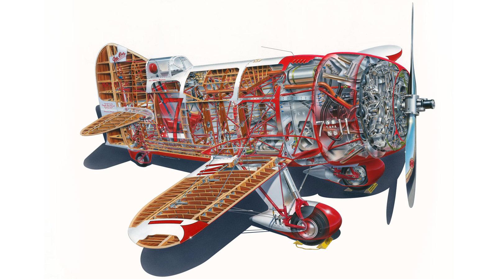 Gee Bee Model R cutaway