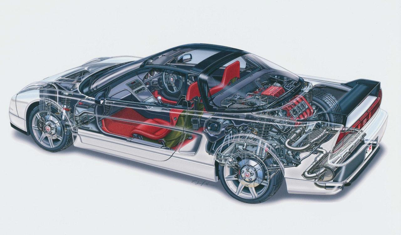 Honda NSX Type-R cutaway