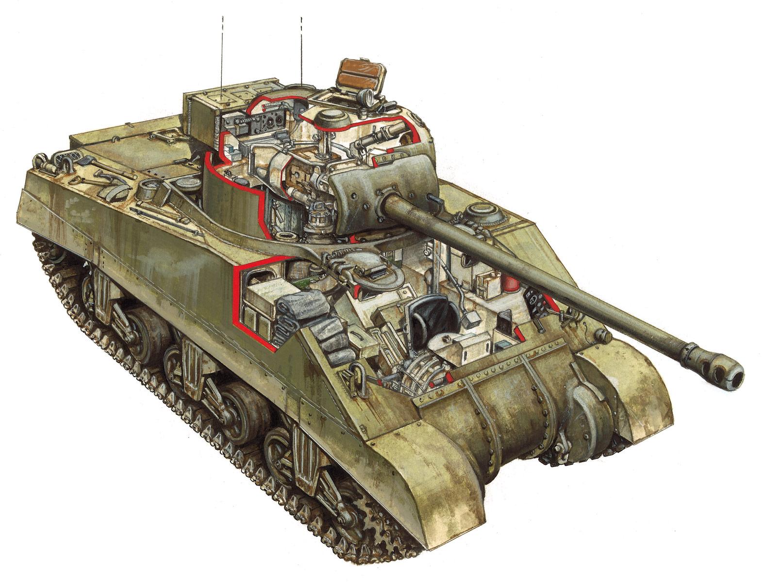 M4 Sherman cutaway