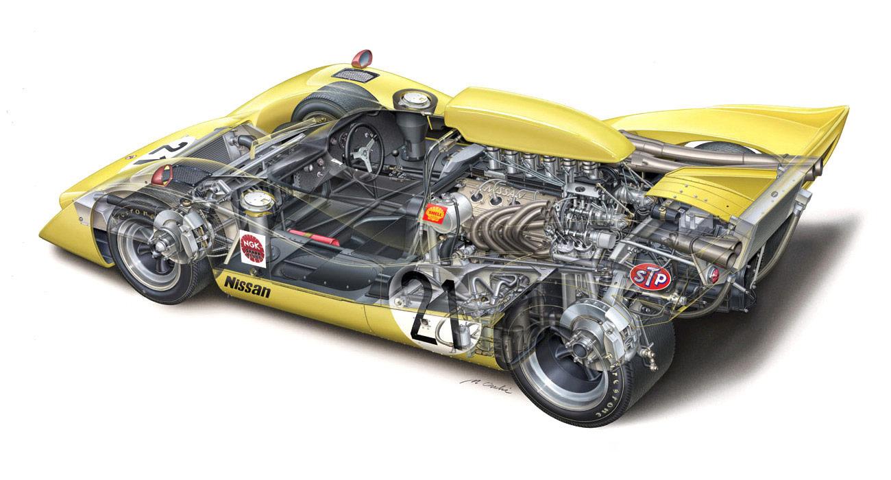 Nissan R382 cutaway