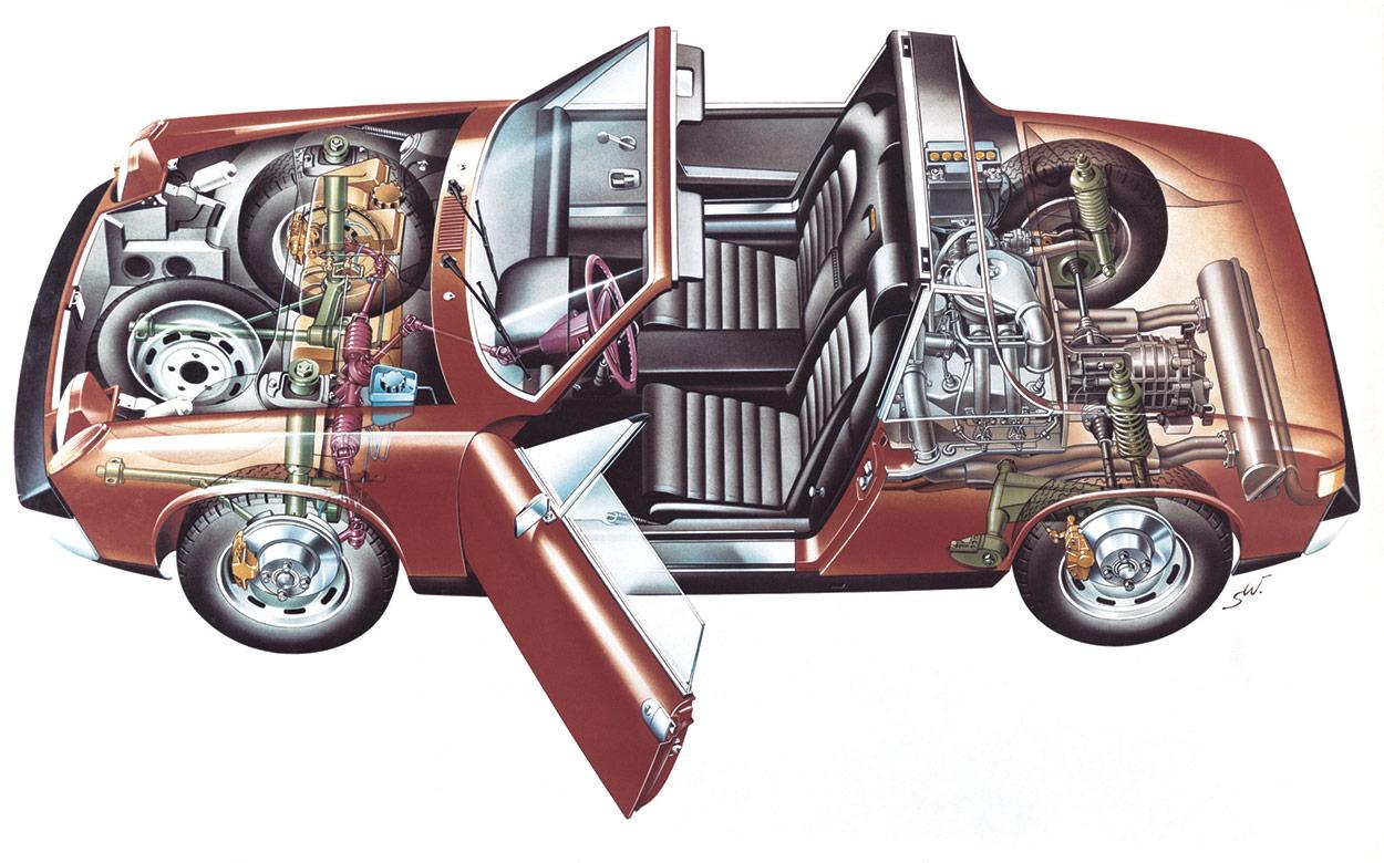 Porsche 914 cutaway
