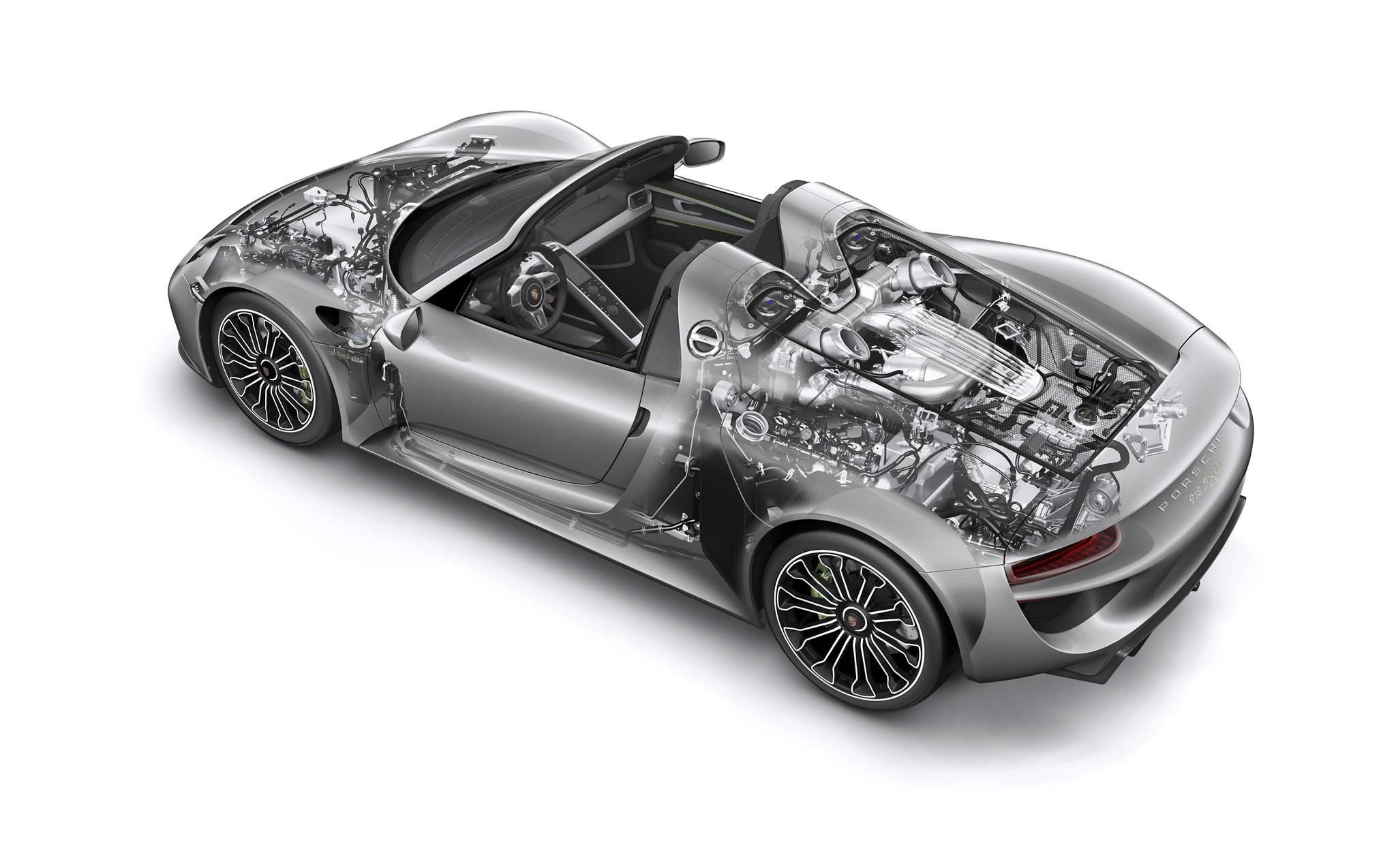 Porsche 918 Spyder cutaway