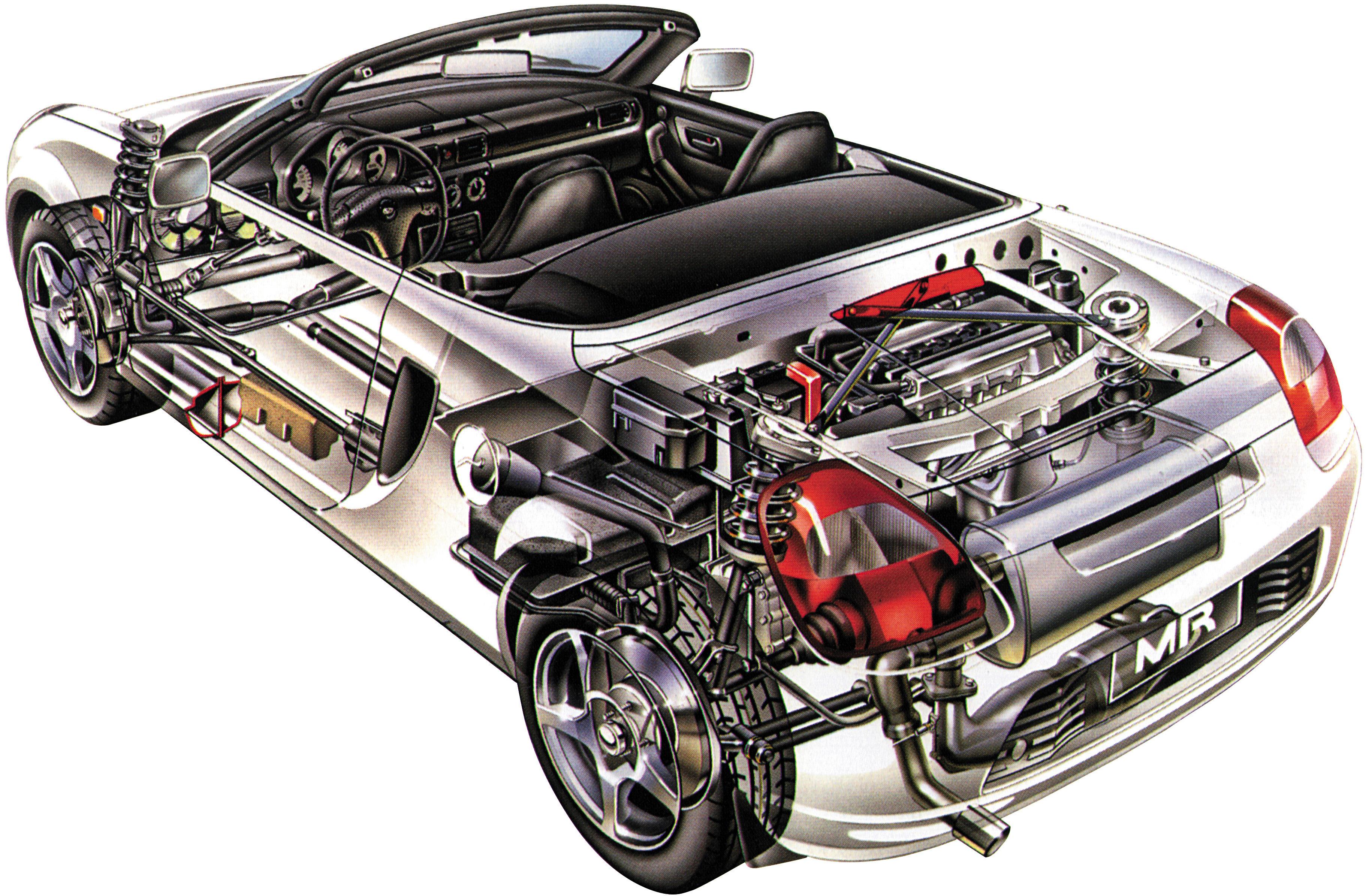 porsche 924 engine diagram toyota mr2 w30 cutaway drawing in high quality #10