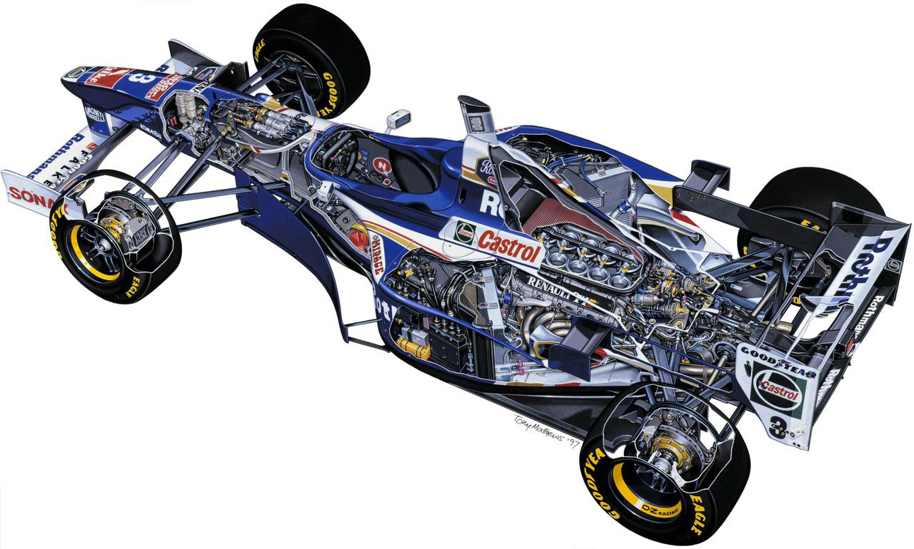 Williams FW19 cutaway