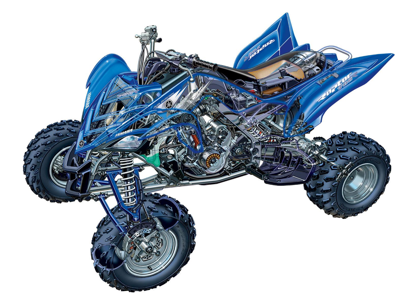 Yamaha Raptor 700R cutaway