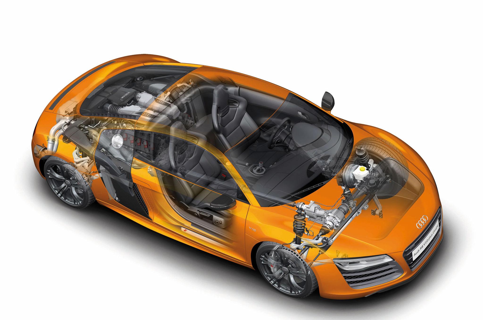 Audi R8 cutaway