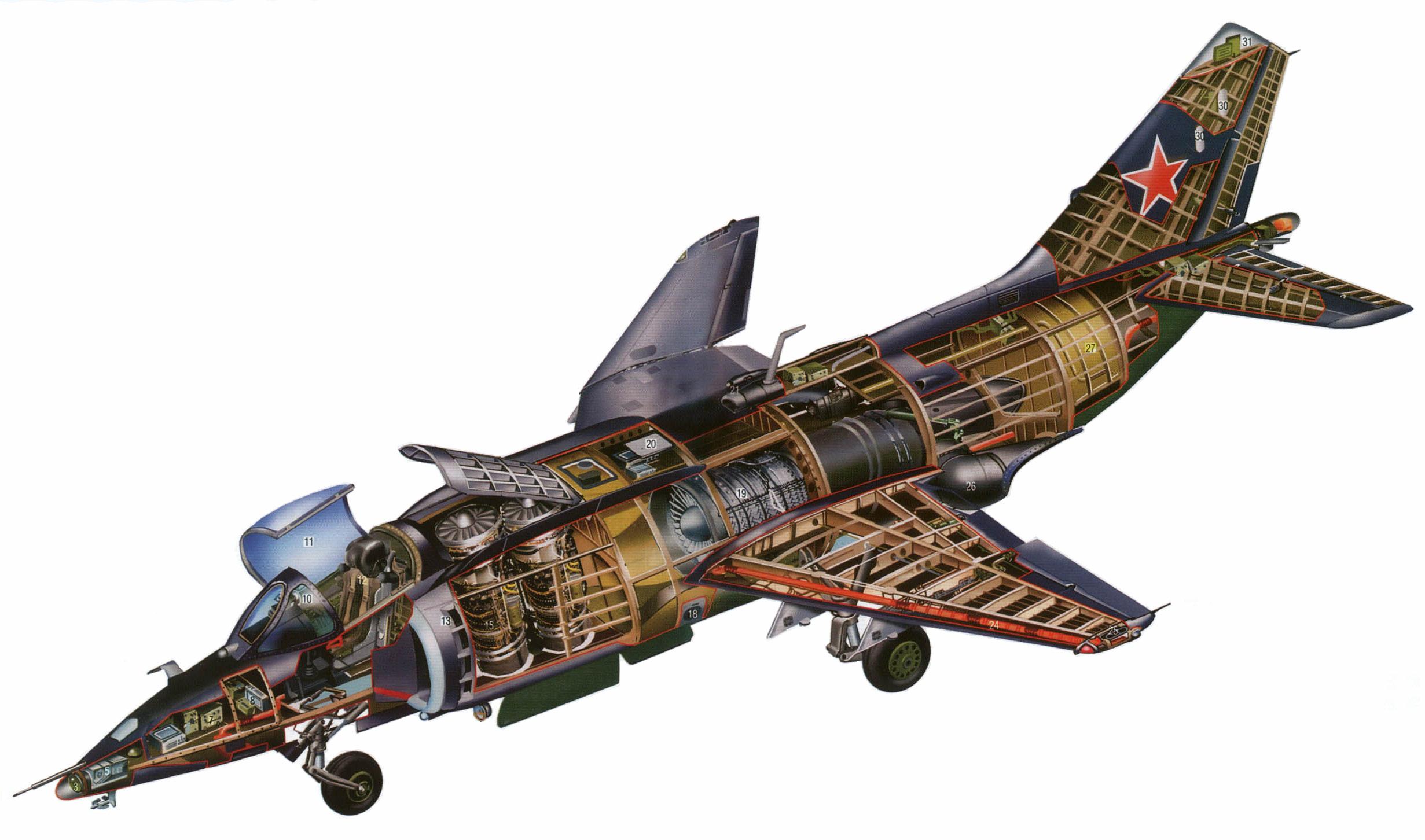 Yakovlev Yak-38 cutaway