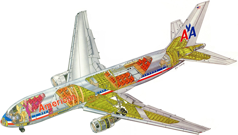 Boeing 767 cutaway